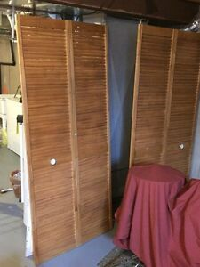 Two 80x36 inch louvered doors for sale windows doors for 18 inch louvered door