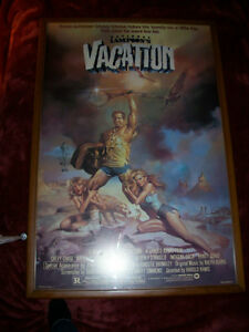 "CLASSIC Vtg Framed Boris Vallejo Chevy Chase ""Vacation"" Poster"