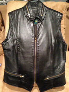 DANIER VINTAGE LEATHER BIKER VEST - PU In Orillia