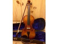 Violin for sale (full size) ~ fully set up with new bridge / reshaped nut.