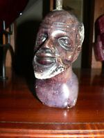 CARVING OF ZULU STONE BUST