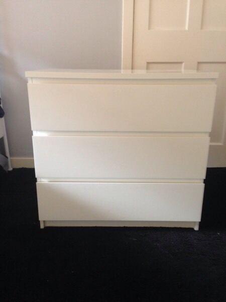 IKEA bedroom drawers & bedside table & living room side table.