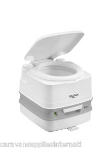 CAMPING THETFORD PORTA POTTI QUBE 335 TOILET 92831 COMPLETE WITH HOLD DOWN KIT