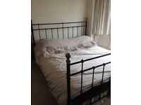 Superb king size bed frame/ as new/ no mattress