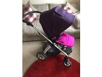 Mamas and papas sola pushchair with footmuff