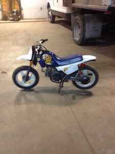 2005 pw 50 with training wheels and full set of gear