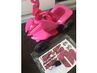 Roadsterz Girls Kids 6V Rechargable Battery Electric Ride On Quad Bike ATV