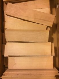 Parquet flooring beech hardwood approx 11.9 m2 £150 job lot