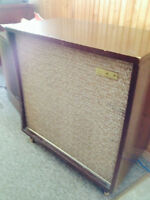 Antique cabinet stereo-radio and phonograph