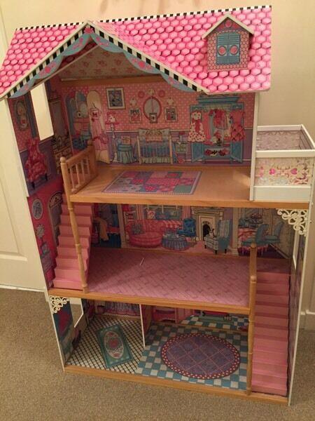 Large Kidkraft dolls house- suitable for Barbie, Monster High, Ever after high etc
