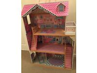 Large Kidkraft dolls house- suitable for Barbie, Monster High, Ever after high etc