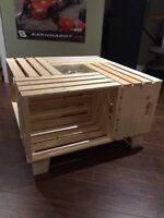 """Home Made """"Square"""" Apple Crate Coffee Table"""