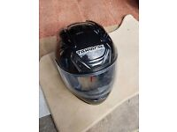 takachi aero 100 full face motorcycle helmet XL black