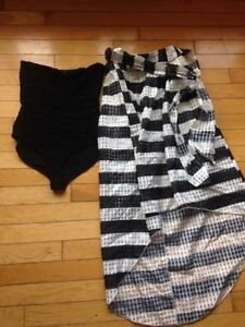 Dress and skirt with body suit