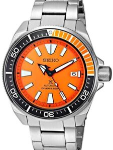 NEW Seiko Prospex SRPC07 Orange Samurai Steel Automatic Dive