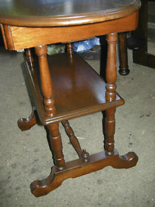antique walnut hall table, gallery shelf, hidden drawer,restored Oakville / Halton Region Toronto (GTA) image 3