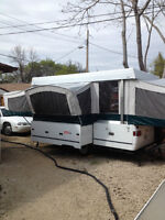 """Coleman """"Fairview""""  12' popup trailer with slide out dinette"""