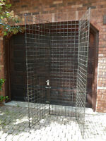 WIRE DISPLAY PANELS 2 FT X 7 FT TALL  3 HINGED TOGETHER