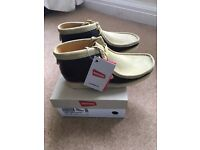 Clarks Wallabee Rocky Brown Combi Suede SIZE 7 1/2 UK