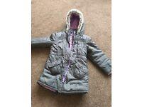 M&S Girls Charcoal Grey Coat Age 5-6