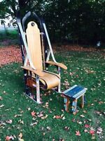 Handmade vintage novelty sports chair and stool