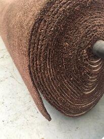 Brown carpet roll