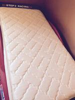 Twin box spring and mattress/twin wood bedframe