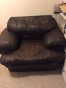 Leather chair Peterborough Peterborough Area image 1