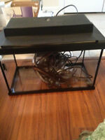 10 GALLON FISH TANK WITH HEATER AND FILTER    MAKE AN OFFER!!!!