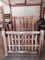 Queen size log bed