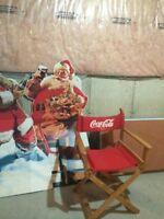 Set of 2 Coca Cola Stand Ups & Director's Chair Vintaget
