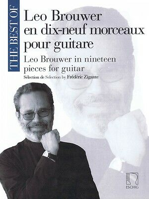 The Best of Leo Brouwer Sheet Music In 19 Pieces for Guitar MGB Book N