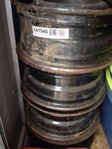 Steel winter wheels rims