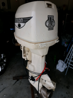Johnson Evinrude 175 hp outboard motor running complete