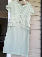 Sears Tradition Petite pale green 2 piece dress