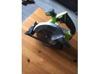 Ryobi circular saw and angle grinder +one cordless