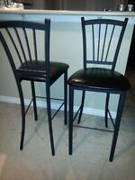 Set of 4 Black Bar Stools