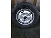 195 /70 r15c part worn with transit wheel