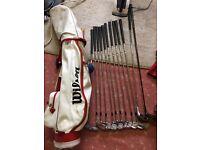 Full set of Regency golf clubs