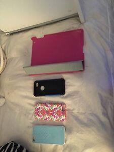 iPhone 5, 5s, SE cases + iPad flip cover case