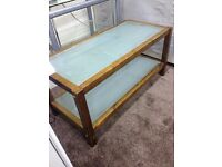 Coffee Table with Glass inlay and Shelf Good Condition Can Deliver