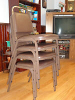 Stackable Padded Chairs