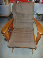 ANTIQUE Chaise berçante bois année 1950-1960 Wood Rocking chair