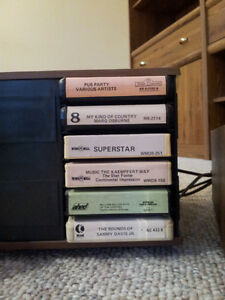 Stereo 8 Eight-Track Player with 35 Cassette Tape Cartridges Stratford Kitchener Area image 5