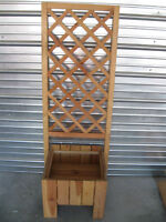 Brand New Wooden Lattice Plant Box and climbing fence