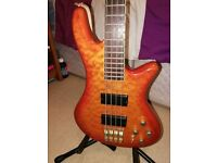 Schecter elite 4 Diamond Bass 2004 and Ashdown five15 amp