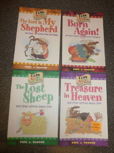 "4 NEW ""I can read"" religious books $5, NEW boys bible $5"