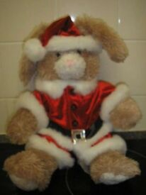 Build A Bear Rabbit with Chrismas outfit. Would make great gift
