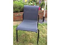 6 black IKEA mesh garden chairs