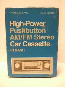 Realistic High-Power Pushbutton AM/FM Stereo Car Cassette